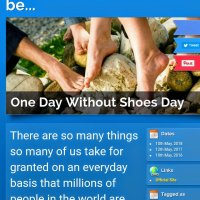 One Day Without Shoes Day - 10th May, 2018