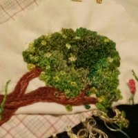 Embroidered Tree ~ Finished!!