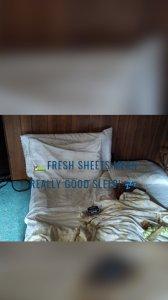 🛌Fresh sheets mean really good sleep! 💤